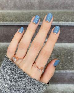 Blue and Gold νύχια 2021 - Irida spa